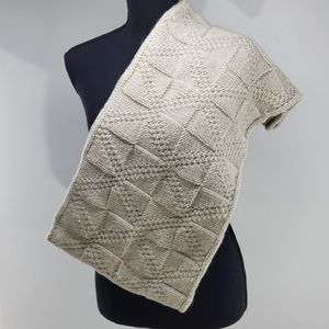 Square Knit Infinity Scarf.